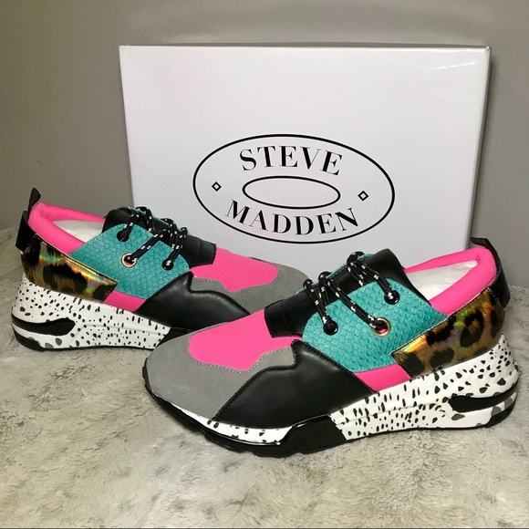 63b3ee01c27 Steve Madden Shoes | Nwt Cliff Bright Multi Sneakers 8 | Poshmark